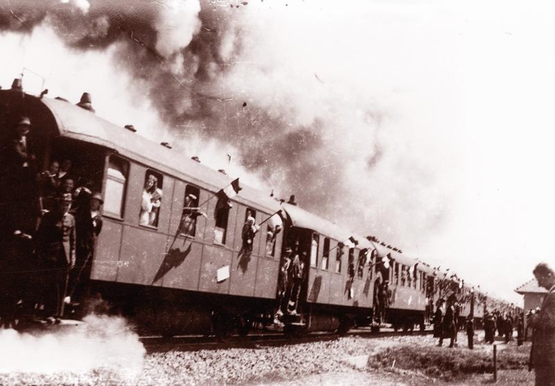 Kosna, az indulás pillanatai.  Fotó: Bognóczky Géza református lelkész 1941. június 3.