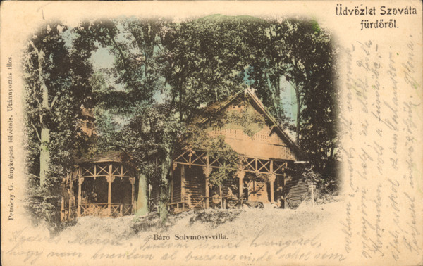 1. Báró Solymossy villa. Petróczy G. fényképész fölvétele. 1899 körül.
