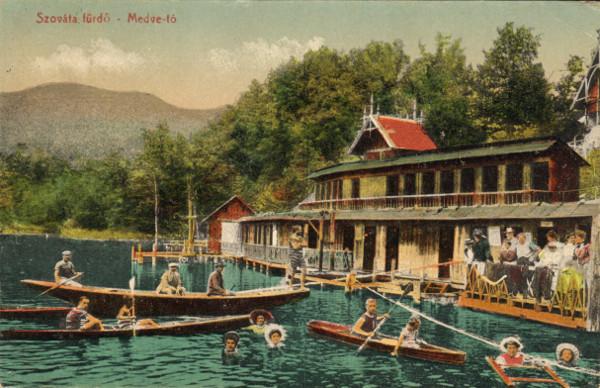 3. Szováta fürdő Medve-tó. Borbély Gyula kiadása. 1918.